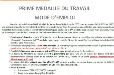 MEDAILLE du TRAVAIL : Mode d'emploi
