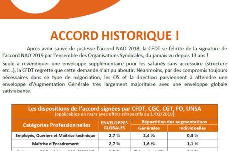 NAO 2019 : Accord historique
