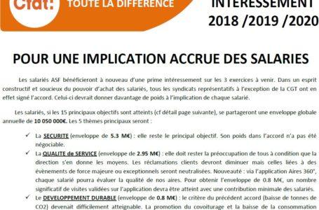 SIGNATURE ACCORD INTERESSEMENT 2018 / 2019 /2020 : implication accrue des salariés (avec détail des enveloppes à distribuer)