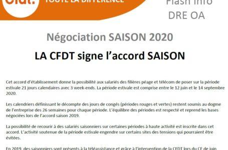 Signature accord saisons 2020