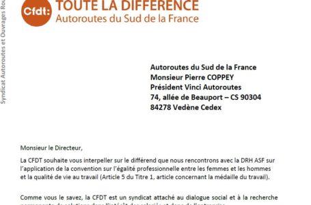 Médaille du Travail : la CFDT interpelle le Directeur avant la saisine des Prud'hommes
