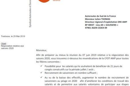 Négociation saisons 2020 : les REVENDICATIONS de la CFDT AMP