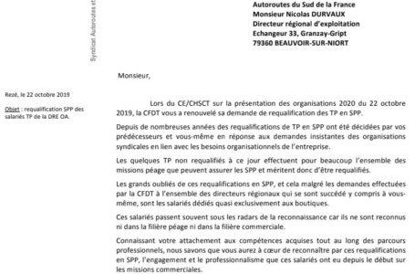 La CFDT OA demande la requalification des TP affectés aux boutiques en SPP