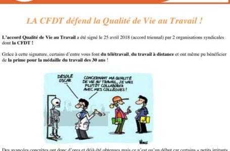 QVT : la CFDT OA en fait son affaire