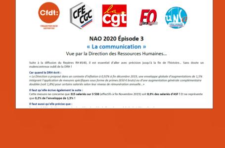 NAO 2020 : aucune OS ne sera signataire. Tract intersyndical