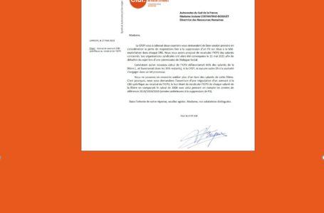 Filière péage : la CFDT obtient l'ouverture d'une négociation d'un avenant C80 spécifique au recalcul de l'ICP3. Notre courrier et la réponse de la DRH :